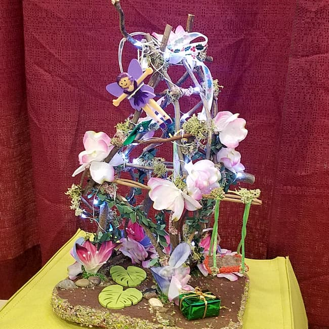 Twig Fairy House - Lights Up - Flowers - Swing - Fairy Doll Included - 13