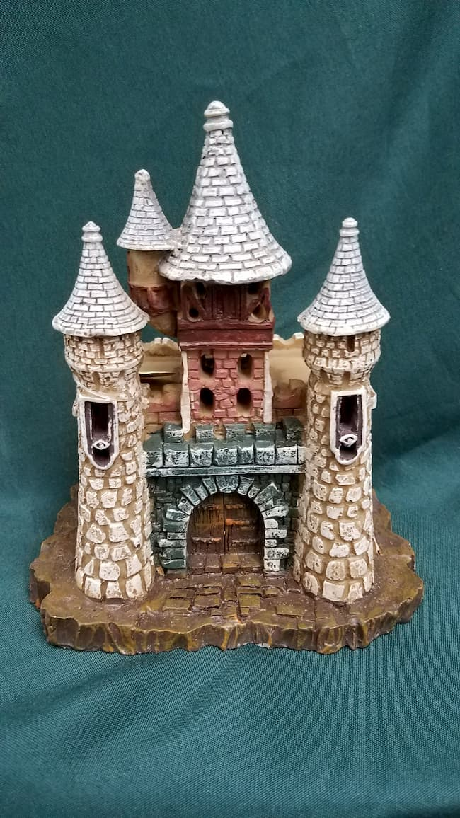 Fairy Castle - Resin - Turrets - Stones - Gray Archway - 6