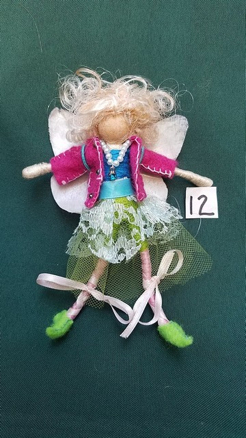 Fairy Doll & Accessories - 26 Piece Set - White Hair - Removable Clothes - Dollhouse - 6'' Tall - Handmade