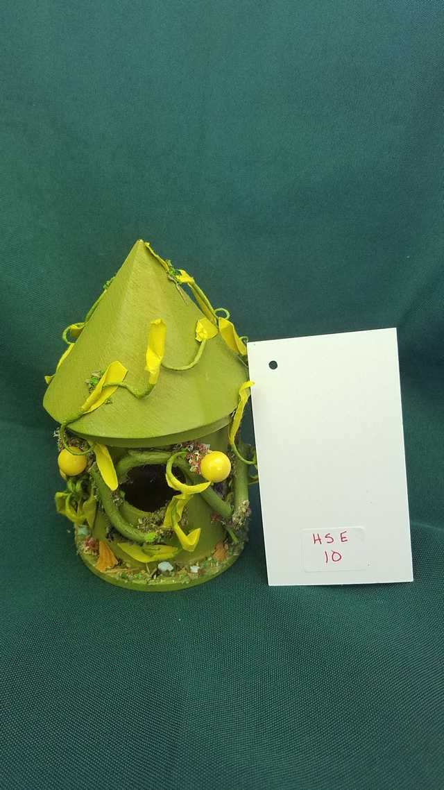 Read more: Miniature Wood Fairy House - Round - Moss Green - Vines - Fairy Garden - 5'' Tall Hand Made