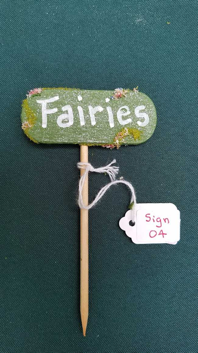 Fairy Garden Sign - *Fairies* -  4