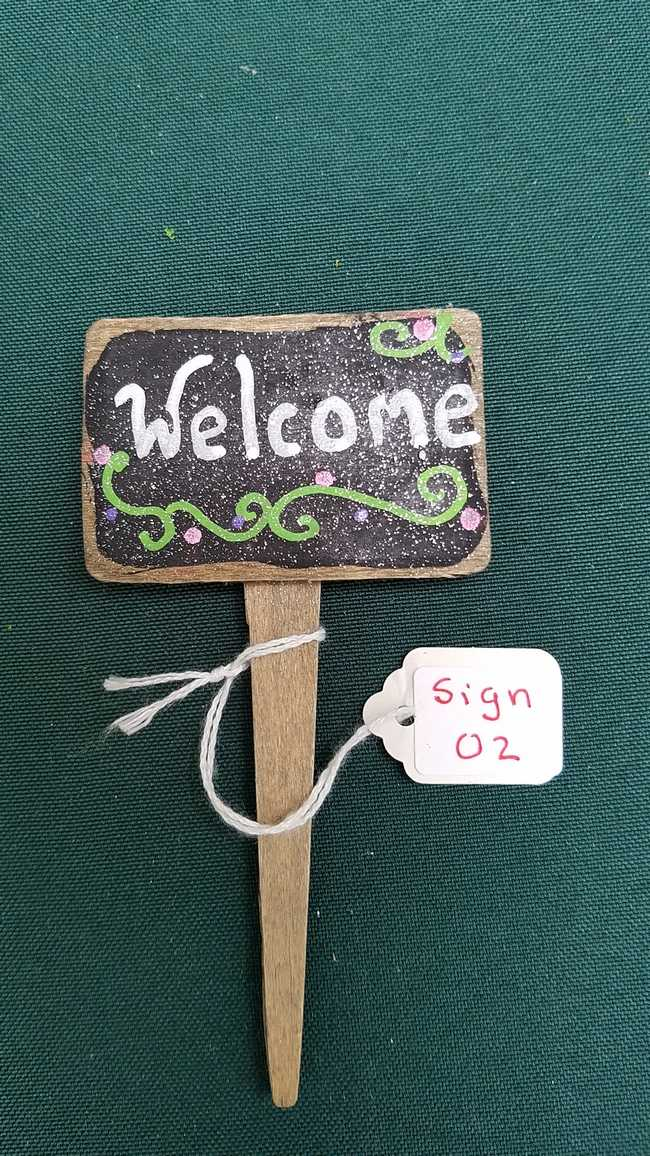 Fairy Garden Sign - *Welcome* - 4