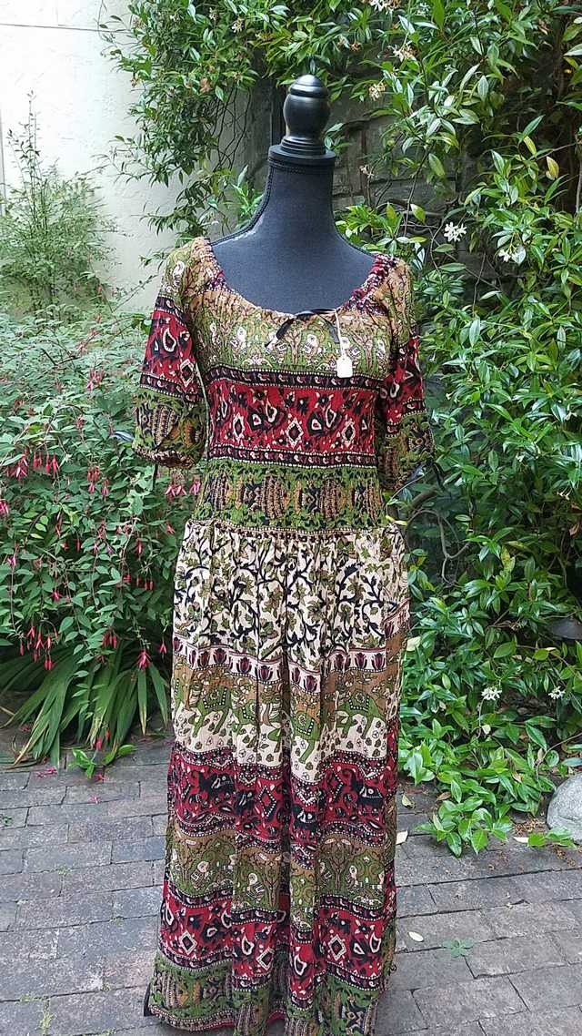 Maxi Dress - Olive Green/Red/Black/Beige - Exotic - Bohemian - Festival - Fairy - Wedding - One Size