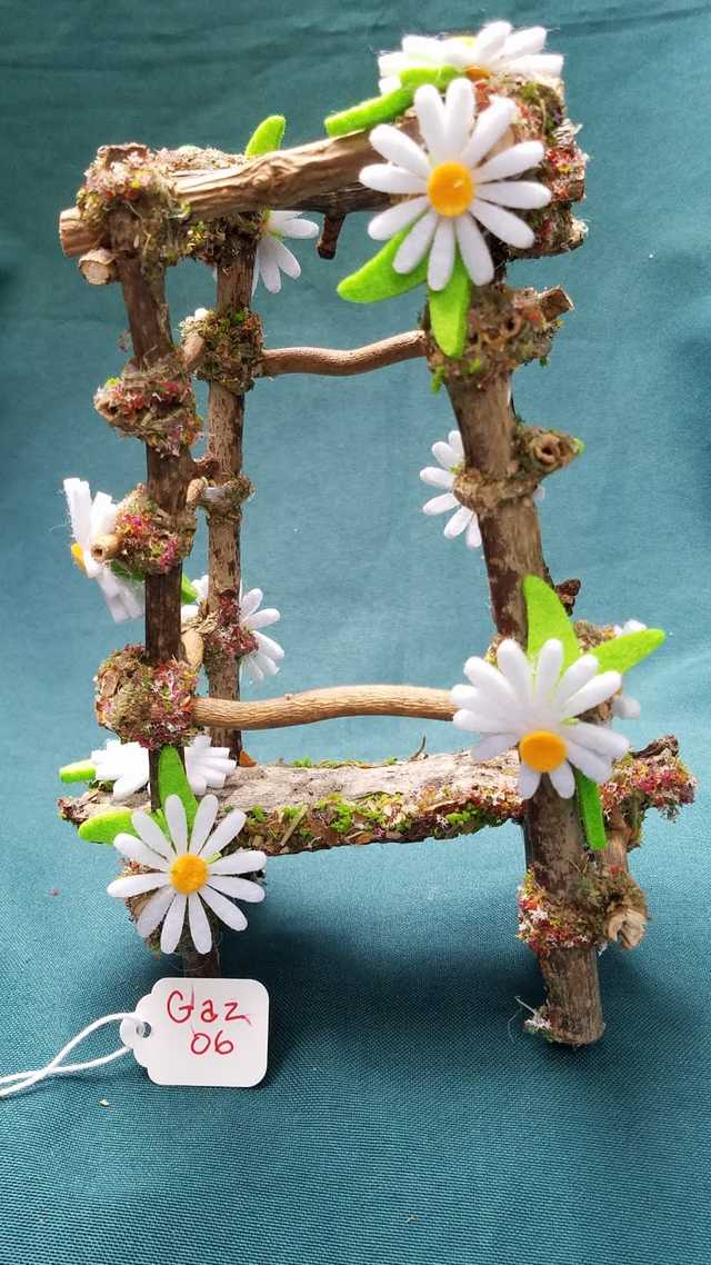Read more: Twig Gazebo with White Daisies - 7'' Tall - Fairy - Fairy Garden - Doll House - Hand Made